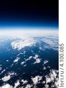 Купить «Белые облака в синем небе, вид сверху», фото № 4100085, снято 9 августа 2012 г. (c) Игорь Чайковский / Фотобанк Лори