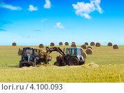 Уборочная техника в поле, заготовка сена. Стоковое фото, фотограф Игорь Чайковский / Фотобанк Лори