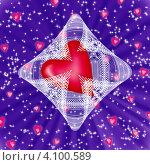 Сердце в кружевах. Стоковая иллюстрация, иллюстратор Наталья Хромова / Фотобанк Лори