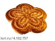 Печенье в виде цветка в сахаре. Стоковое фото, фотограф Валентин Ясенев / Фотобанк Лори