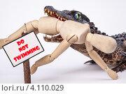 Осторожно, крокодилы! Купание запрещено. Стоковое фото, фотограф Logunov Maxim / Фотобанк Лори
