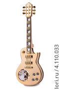 Золотая гитара с кристаллом хрусталя. Стоковое фото, фотограф Logunov Maxim / Фотобанк Лори