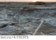 Эльтонский пейзаж на закате (2012 год). Редакционное фото, фотограф Маргарита Волгина / Фотобанк Лори