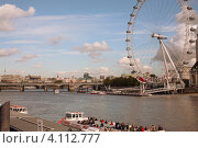 Вид на реку Темзу в центре Лондона (2009 год). Редакционное фото, фотограф Svetlana Mihailova / Фотобанк Лори