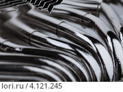 Купить «Металлические трубки системы охлаждения процессора», фото № 4121245, снято 16 декабря 2012 г. (c) Архипова Мария / Фотобанк Лори