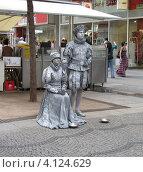 Купить «Живые скульптуры на улице Вены», фото № 4124629, снято 31 июля 2008 г. (c) Falter / Фотобанк Лори
