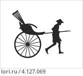 Рикша. Стоковая иллюстрация, иллюстратор Михаил Алешин / Фотобанк Лори