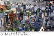 Купить «Кладбище Монмартр в Париже, Франция», фото № 4131765, снято 14 октября 2010 г. (c) Светлана Колобова / Фотобанк Лори