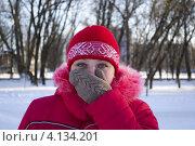 Нос и мороз. Стоковое фото, фотограф konstantin tatonkin / Фотобанк Лори
