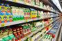 Молочные продукты на полке в магазине, эксклюзивное фото № 4135253, снято 27 октября 2012 г. (c) Анна Мартынова / Фотобанк Лори