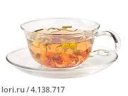 Купить «Травяной чай в стеклянной чашке», фото № 4138717, снято 16 декабря 2012 г. (c) Наталия Пыжова / Фотобанк Лори