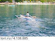 Купить «Филиппины. Китовая акула (Whale shark) плывет за лодкой», фото № 4138885, снято 10 мая 2012 г. (c) Сергей Дубров / Фотобанк Лори