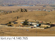 Купить «Дагестан. Вид на Ленинкент с перевала», эксклюзивное фото № 4140765, снято 25 сентября 2010 г. (c) A Челмодеев / Фотобанк Лори
