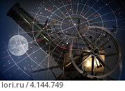 Купить «Астрономический абстрактный фон со звездной картой», фото № 4144749, снято 15 декабря 2012 г. (c) EugeneSergeev / Фотобанк Лори