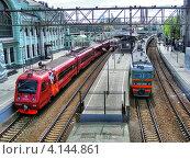 Купить «Белорусский вокзал, Москва», эксклюзивное фото № 4144861, снято 30 апреля 2012 г. (c) lana1501 / Фотобанк Лори