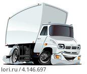 Купить «Мультяшный грузовик», иллюстрация № 4146697 (c) Александр Володин / Фотобанк Лори