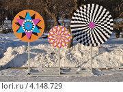 Купить «Декоративное украшение в Парке Горького. Москва», эксклюзивное фото № 4148729, снято 19 декабря 2012 г. (c) lana1501 / Фотобанк Лори