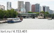 Купить «Двухуровневый мост Бир-Акейм (Pont de Bir-Hakeim) в Париже, построенный в 1949 году по проекту Г. Эйфеля», фото № 4153401, снято 31 июля 2012 г. (c) Олег Тыщенко / Фотобанк Лори