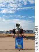 Купить «Жуковский, 100 лет ВВС России. МиГ-31— двухместный сверхзвуковой всепогодный истребитель-перехватчик дальнего радиуса действия.», фото № 4153689, снято 11 августа 2012 г. (c) Игорь Долгов / Фотобанк Лори