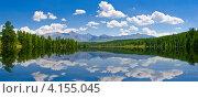 Панорама живописного озера, Алтай. Стоковое фото, фотограф Андрей Кузьмин / Фотобанк Лори