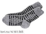 Купить «Носки ручной вязки», фото № 4161565, снято 3 января 2013 г. (c) Игорь Веснинов / Фотобанк Лори
