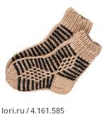 Купить «Пара шерстяных носков», фото № 4161585, снято 3 января 2013 г. (c) Игорь Веснинов / Фотобанк Лори