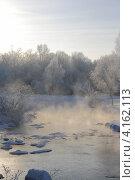 Купить «Туман над зимней рекой», эксклюзивное фото № 4162113, снято 22 декабря 2012 г. (c) Василий Пешненко / Фотобанк Лори
