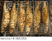 Рыба на гриле. Стоковое фото, фотограф Владимир Никифоров / Фотобанк Лори