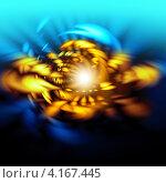 Купить «Абстрактный яркий фон с золотой спиралью», иллюстрация № 4167445 (c) ElenArt / Фотобанк Лори