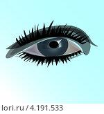 Рисунок женского глаза. Стоковая иллюстрация, иллюстратор Николай Цитульский / Фотобанк Лори