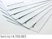 Почтовые конверты на белом фоне. Стоковое фото, фотограф Karataevo / Фотобанк Лори
