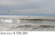 Купить «Морской прибой. Чайки над морем. Чёрное море.», эксклюзивный видеоролик № 4199381, снято 17 января 2013 г. (c) Юрий Морозов / Фотобанк Лори