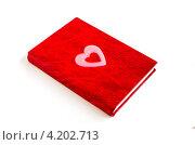 Купить «Красная записная книжка», фото № 4202713, снято 6 января 2013 г. (c) Елена Силкова / Фотобанк Лори