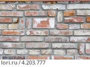 Кирпичная стена. Стоковое фото, фотограф Андрей Сериков / Фотобанк Лори