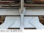Купить «Фрагмент конструкции старого немецкого разводного двухъярусного моста в Калининграде», фото № 4203973, снято 28 октября 2012 г. (c) Сергей Трофименко / Фотобанк Лори