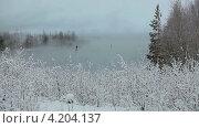 Купить «Туман на озере», видеоролик № 4204137, снято 18 января 2013 г. (c) Кекяляйнен Андрей / Фотобанк Лори