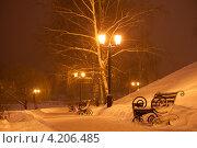 Купить «На набережной реки Цны, город Тамбов», фото № 4206485, снято 19 января 2013 г. (c) Карелин Д.А. / Фотобанк Лори