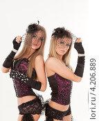 Купить «Две девушки в эротических нарядах», фото № 4206889, снято 12 января 2013 г. (c) Литвяк Игорь / Фотобанк Лори
