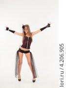 Купить «Девушка в эротическом наряде», фото № 4206905, снято 12 января 2013 г. (c) Литвяк Игорь / Фотобанк Лори