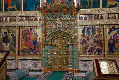 Спасо-Преображенский Соловецкий монастырь. Внутренний вид Преображенского собора.