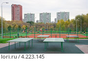 Купить «Спортивный комплекс на Сухонской улице», эксклюзивное фото № 4223145, снято 15 октября 2012 г. (c) Алёшина Оксана / Фотобанк Лори