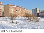 Купить «Суздальская улица, 8, район Новокосино, Москва», эксклюзивное фото № 4223561, снято 22 января 2013 г. (c) lana1501 / Фотобанк Лори