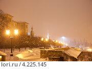 Купить «На набережной реки Цны. Ночной Тамбов», фото № 4225145, снято 19 января 2013 г. (c) Карелин Д.А. / Фотобанк Лори