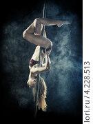 Купить «Девушка танцует на шесте», фото № 4228513, снято 2 декабря 2012 г. (c) Петр Малышев / Фотобанк Лори