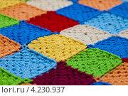 Купить «Разноцветный коврик, связанный крючком», фото № 4230937, снято 19 января 2013 г. (c) Костенюкова Наталия / Фотобанк Лори
