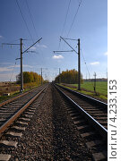 Железная дорога. Стоковое фото, фотограф Никита Шауберт / Фотобанк Лори