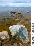 Камни на берегу озера Среднее куйто, Карелия. Стоковое фото, фотограф Артём Сапегин / Фотобанк Лори