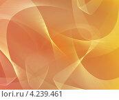 Купить «Абстрактный оранжевый ленточный фон», иллюстрация № 4239461 (c) Светлана Ильева (Иванова) / Фотобанк Лори