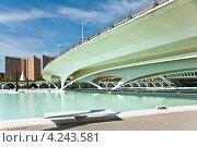 Мост в Городе искусств и наук в Валенсии, Испания (2012 год). Редакционное фото, фотограф юлия заблоцкая / Фотобанк Лори
