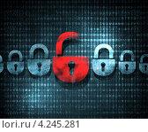 Купить «Концепция компьютерной безопасности, цифровой фон», фото № 4245281, снято 17 февраля 2019 г. (c) Sergey Nivens / Фотобанк Лори